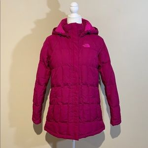 The North Face Goose Down Pink Magenta Puffer Coat